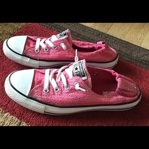 Converse All Star Slip-On Sneakers Pink Size 10
